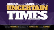 Guest Speaker: Jay Thompson - Lessons We Can Learn in Uncertain Times - Genesis 12:1-7